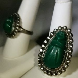 Mexican vintage sterling silver set